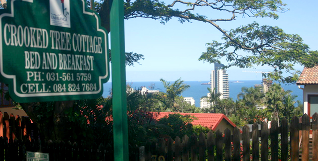 Crooked Tree Cottage, bed, breakfast, accommodation, umhlanga rocks, guest house, sea view, ocean accommodation